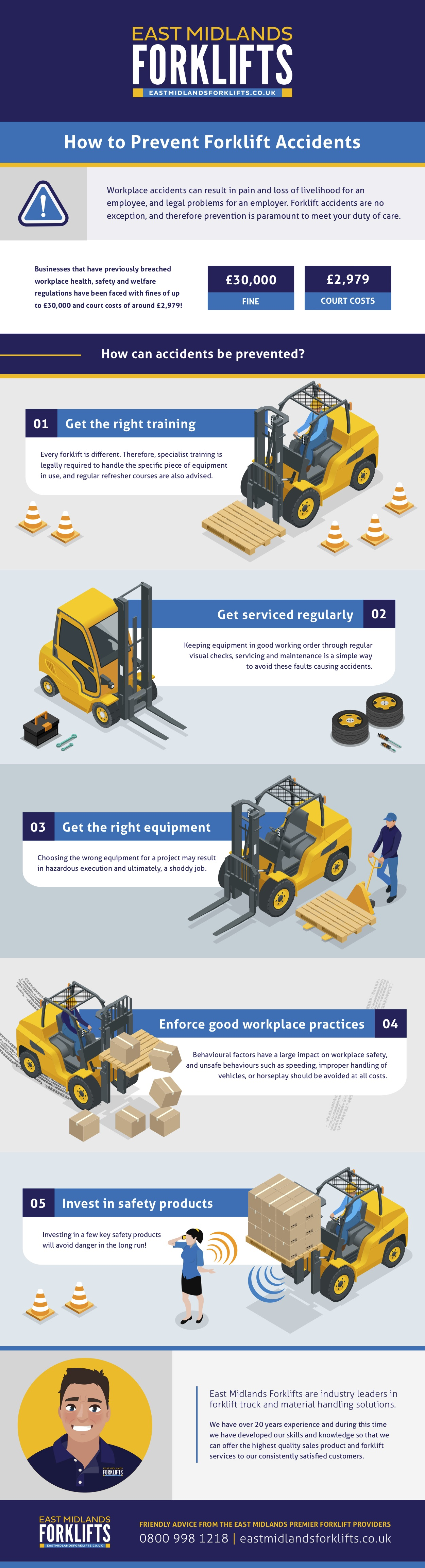 prevent forklift accidents infographic